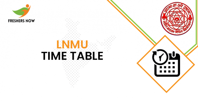 LNMU time table