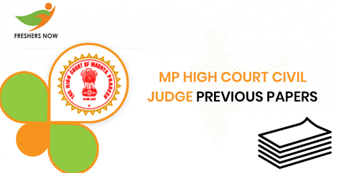 MP High Court Civil Judge Previous Question Papers