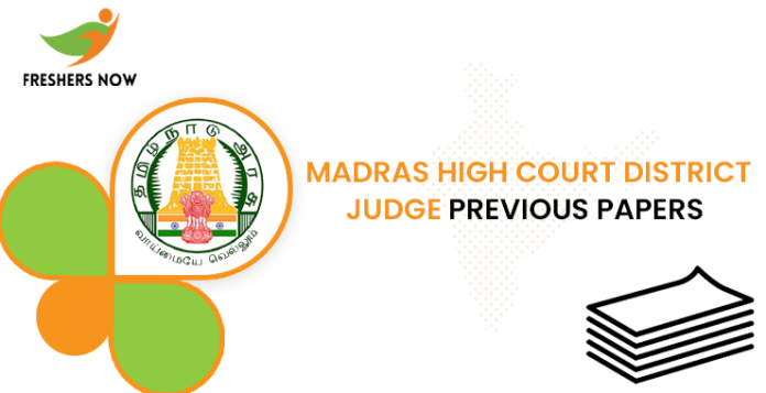 Madras High Court District Judge Previous Question Papers