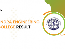 Mahendra Engineering College Result