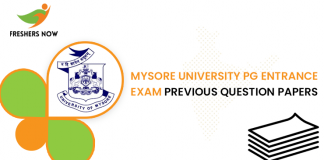 Mysore University PG Entrance Exam Previous Question Papers