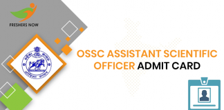 OSSC Assistant Scientific Officer Admit Card