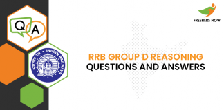 RRB Group D Reasoning Questions and Answers