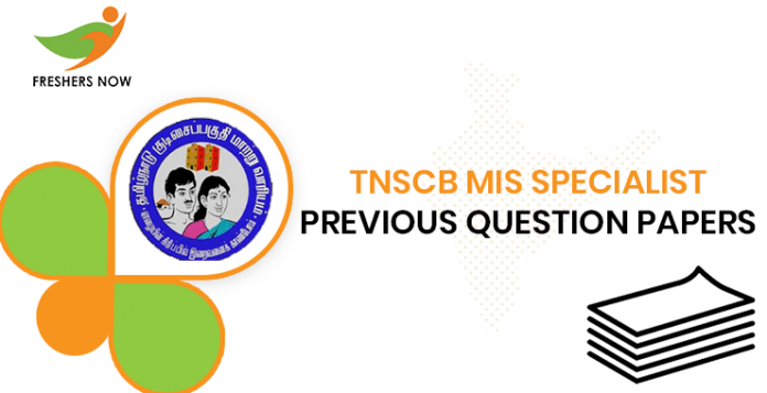 TNSCB MIS Specialist Previous Question Papers