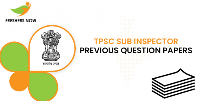 TPSC SI Previous Question Documents