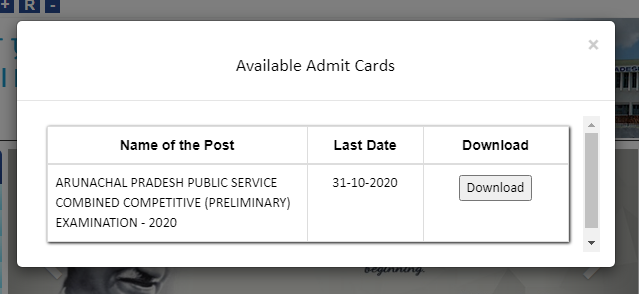 APPSC CCE Admit Card