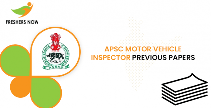 APSC Motor Vehicle Inspector Previous Question Papers