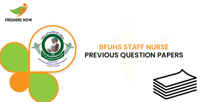 BFUHS Staff Nurse Previous Question Papers
