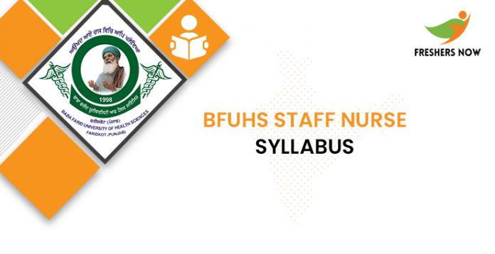 BFUHS Staff Nurse Syllabus 2020