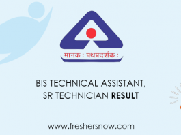 BIS Technical Assistant Result