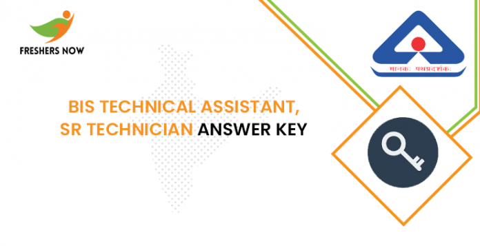 BIS Technical Assistant, Sr Technician Answer Key