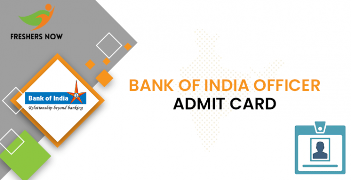 Bank of India Officer Admission Card