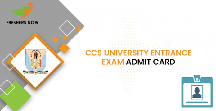 CCS University Entrance Exam Admit Card