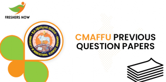 CMAFFU Previous Question Papers