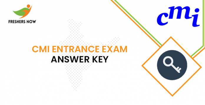 CMI Entrance Exam Answer Key