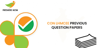 CON LHMCEE Previous Question Papers