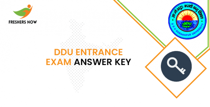 DDU Entrance Exam Answer Key