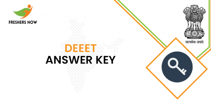 DEEET answer key