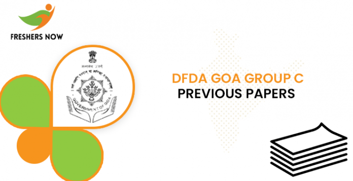 DFDA Goa Group C Previous Question Papers