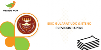 ESIC Gujarat UDC Previous Question Papers
