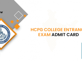 HCPG College Entrance Exam Admit Card