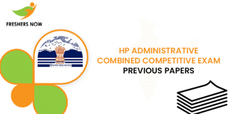 HP Administrative Combined Competitive Exam Previous Question Papers
