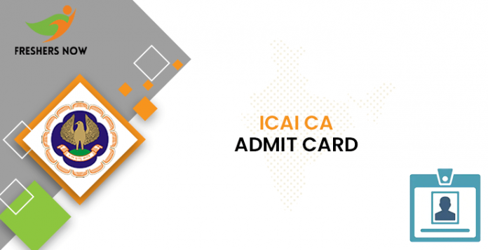ICAI CA Admit Card