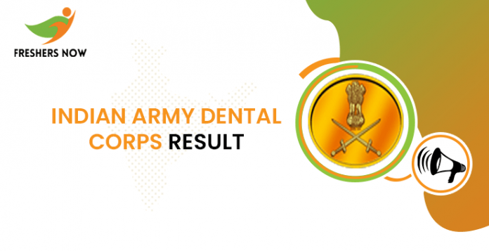 Indian Army Dental Corps Result