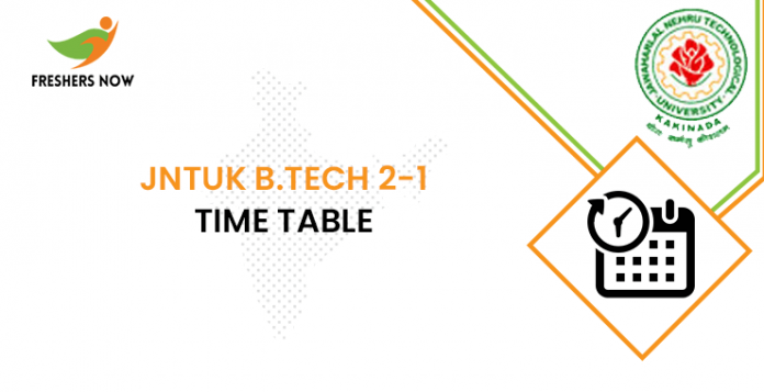 JNTUK B Tech 2-1 Time Table