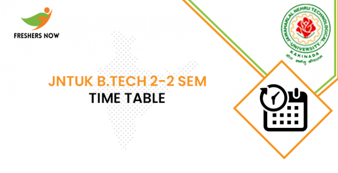 JNTUK B.Tech 2-2 Sem Time Table