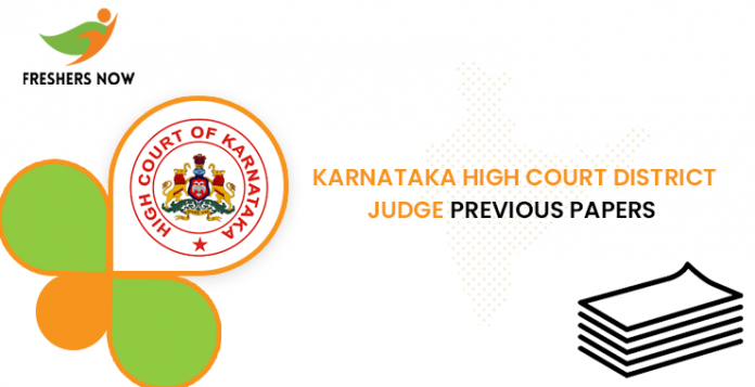 Karnataka High Court District Judge Previous Question Papers