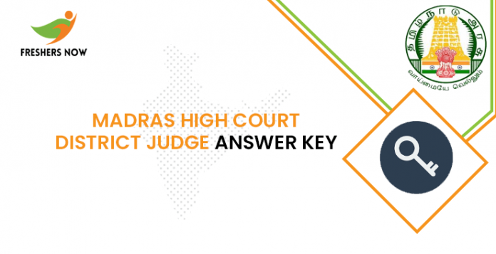 Madras High Court District Judge Answer Key