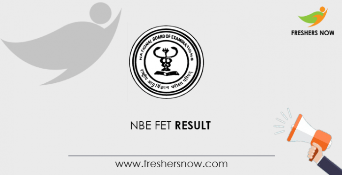 NBE FET Result