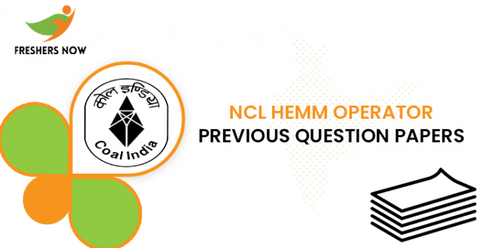NCL HEMM Operator Previous Question Papers