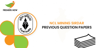 NCL Mining Sirdar Previous Question Papers