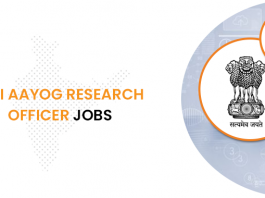 NITI Aayog Research Officer Jobs