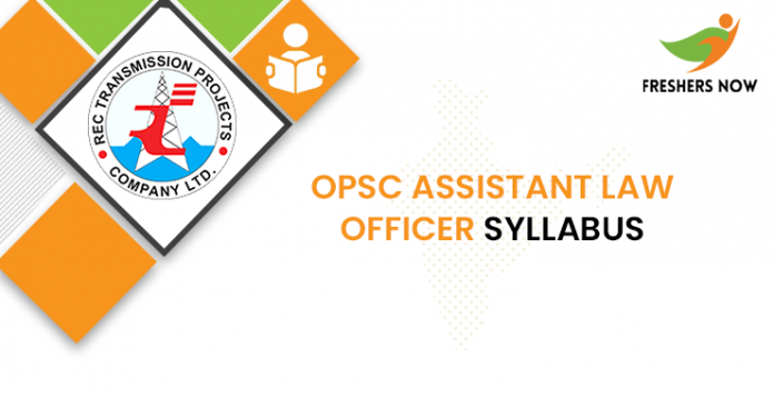 OPSC Assistant Law Officer Syllabus 2020