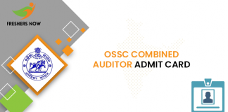 OSSC Combined Auditor Admit Card
