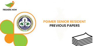 PGIMER Senior Resident Previous Question Papers