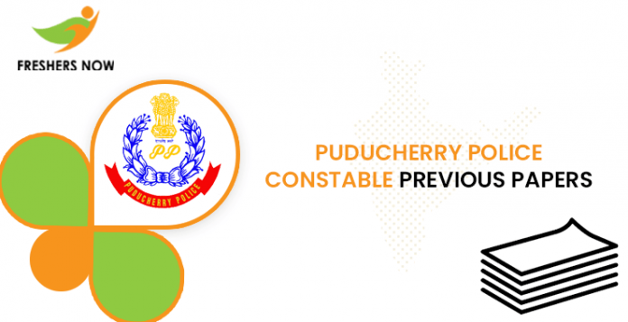 Puducherry Police Constable Previous Question Papers