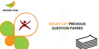 RGUKT CET Previous Question Papers