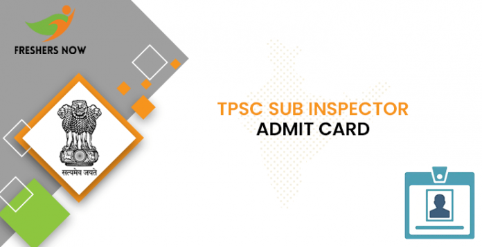 TPSC Sub Inspector Admit Card