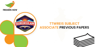 TTWREIS Subject Associate Previous Question Papers