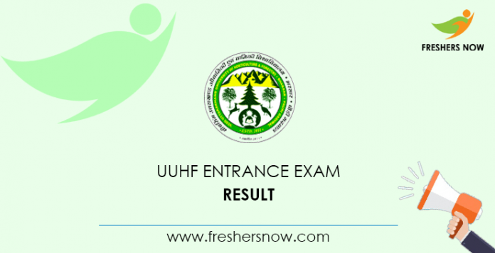 UUHF Entrance Exam Result