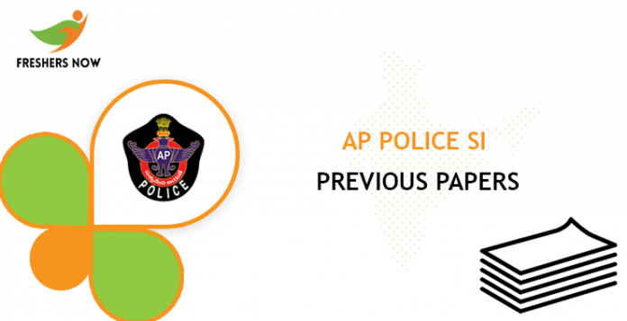 AP Police SI Previous Question Papers