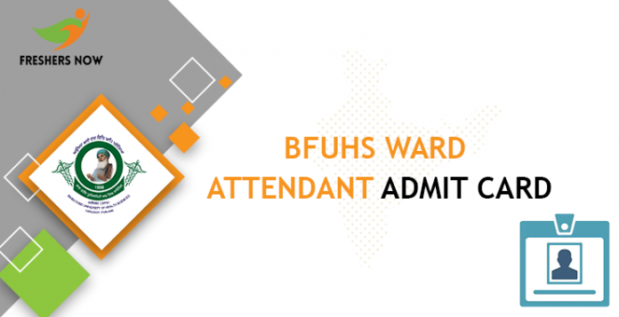 BFUHS Ward Aide Admission Card