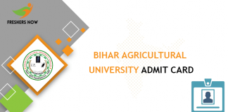 Bihar Agricultural University Admit Card
