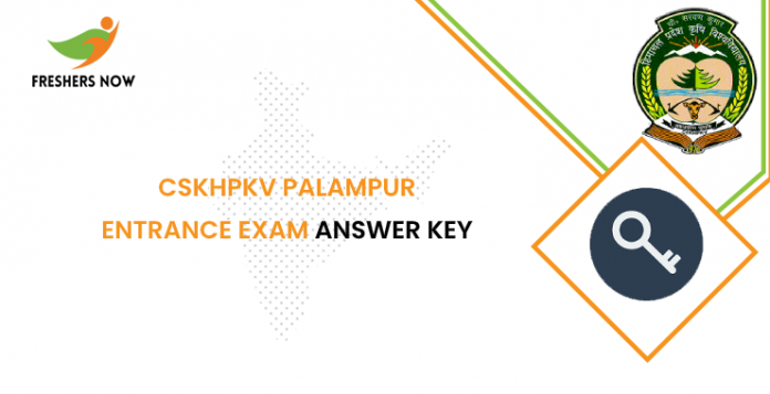 CSKHPKV Palampur Entrance Exam Answer Key