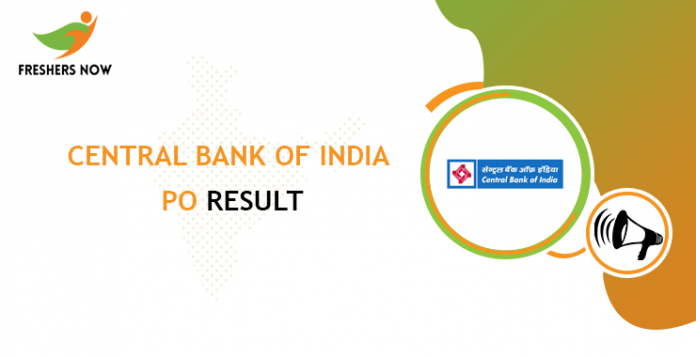 Central Bank of India PO Result