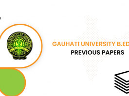Gauhati University B.Ed CET Previous Question Papers